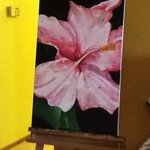 On of the oil painting in java Warung (all oil& acrylic painting) are hand painted by the owner