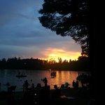 beautiful sunset, swains lake