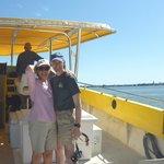 My husband and I enjoying the Sea Screamer