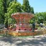 A lovely merry-go-round in the park.