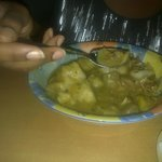 chicken soup looks small in pic but is very large