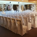 The wedding seating in the Oak Room
