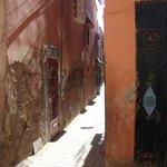callejón de entrada