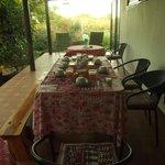Terraza que permite desayunar fuera de habitación