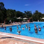 Fitness course in the swimmingpool