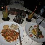 Phad Thai and Bass fish, looks good, taste not so good...