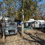 Motorhome pitches at Camping Los Lanos