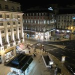 View from my room (Restauradores Place towards Rossio).