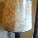 Lamp shade from Bering Sea map