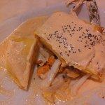 Creps con molluschi e crostacei