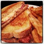 Grilled Pimento Cheese and Apple wood Smoked Ham