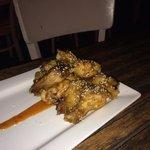 Buffalo wings in sweet chili