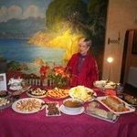 Olga nos ofreció una fantastica cena de Fin de Año