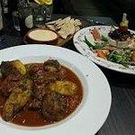 Beef Stifado, Htipiti and Halloumi Salad