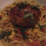 Nicest crab cake pasta ever!