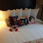 The housekeeping staff made sure my kids dolls were taken care of!