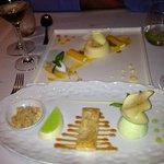Desserts - Apple in foreground Mango behind