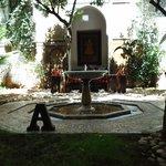 the riad/courtyard