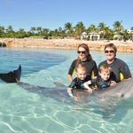 Our family at Dolphin Cay