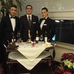 Lo staff ristorante: Giovanni, il maître Sergio e Veronica
