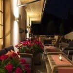 Terrasse Sommer am Abend