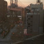 View from bathroom of Brooklyn Bridge