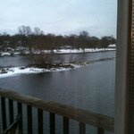 View of Fox River from balcony
