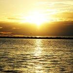 Splendido tramonto Messicano dalla spiaggia di Playa del Carmen