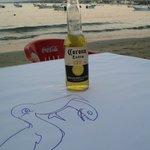 View of Jaltemba bay from Latitude 21 beach bar/restaurant