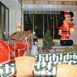 The Christmas display in the Coba lobby
