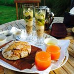 Amazing breakfast all homemade with local produce