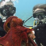 My daughter and I with octopus