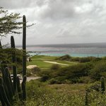 Uitzicht op zee vanaf het grote landgoed