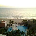 hotel pool & beach area