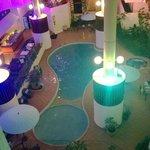 Atrium pool area