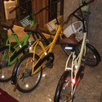 無料貸出の自転車