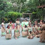 A traditional Fiji song and dance performance
