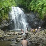 Waterfall on trip to village