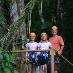 Zip lining in Belize