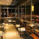 Vista desde el balcón del restaurante