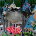 Puffer fish wind chime