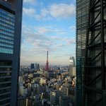 Tokyo Tower view from restaurant