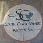 Logo at entry to winery tasting room