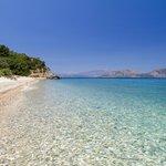 Dilek National Park fourth beach (Karasu) with Samos, Greece in the background