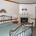 Iron bedstead and Gas fireplace (Typical room)