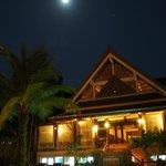 Moon light over the Palm Restaurant