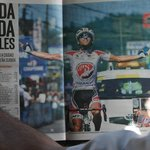 The winner of Costa Rica Cycling Race. 21st December 2013 Nicoya.