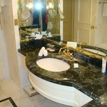 Marble bathroom and bath.......With Gold showers and taps