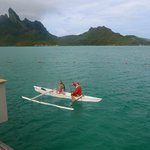 surprise canoe with santa clause for christmas