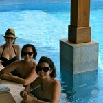 My sisters and I at the pool bar